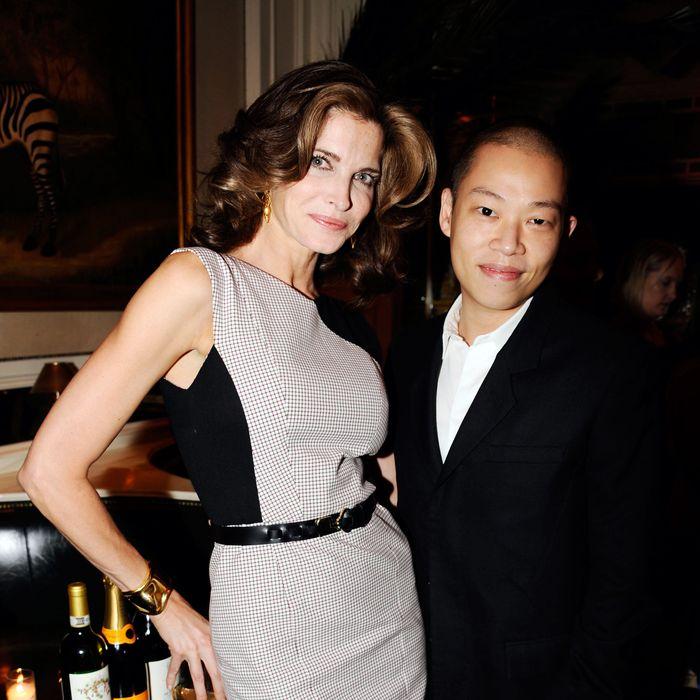 Stephanie Seymour and Jason Wu.