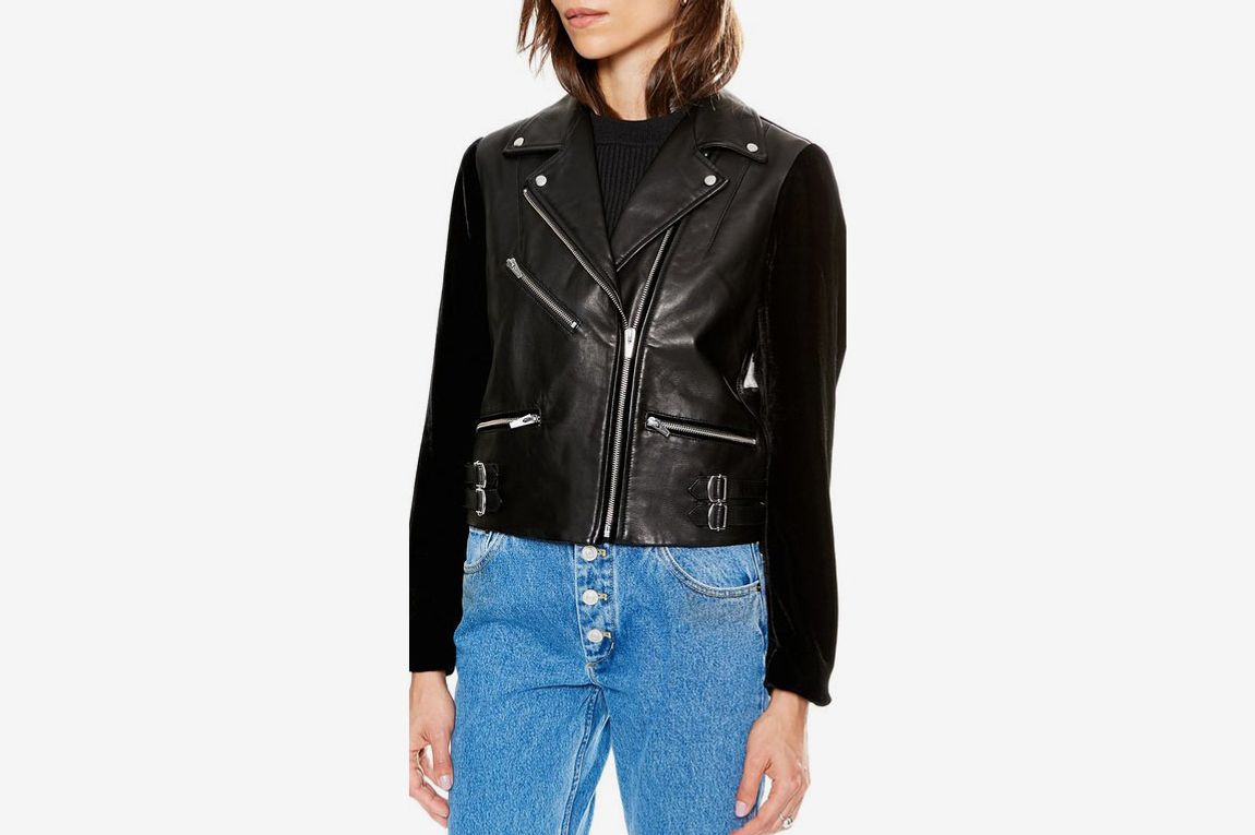 Puzzle Velvet and Leather Jacket
