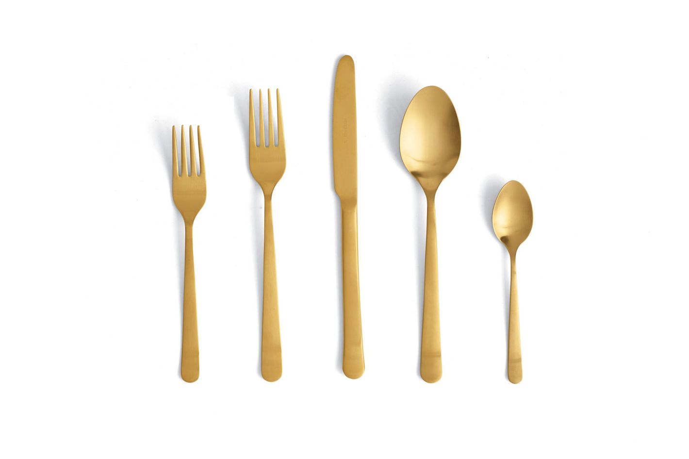 Almoco Flatware in Matte Gold