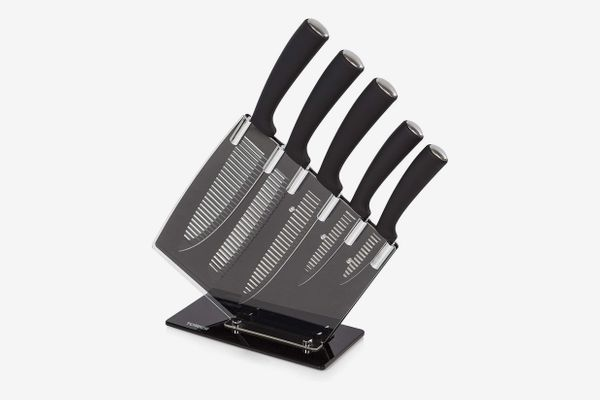 Tower Kitchen Knife Set with Acrylic Block, 5-Piece