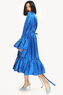 """""""Gabrielle"""" Dress Midi Blue"""