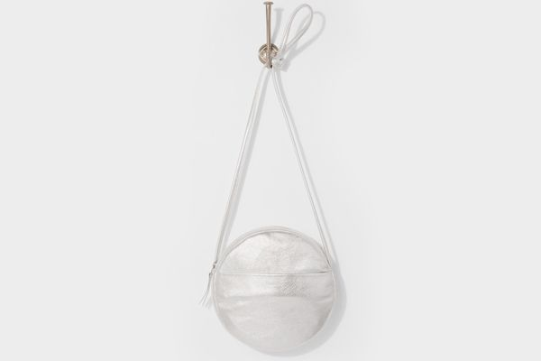 7 For All Mankind Baggu New Circle Purse In Silver