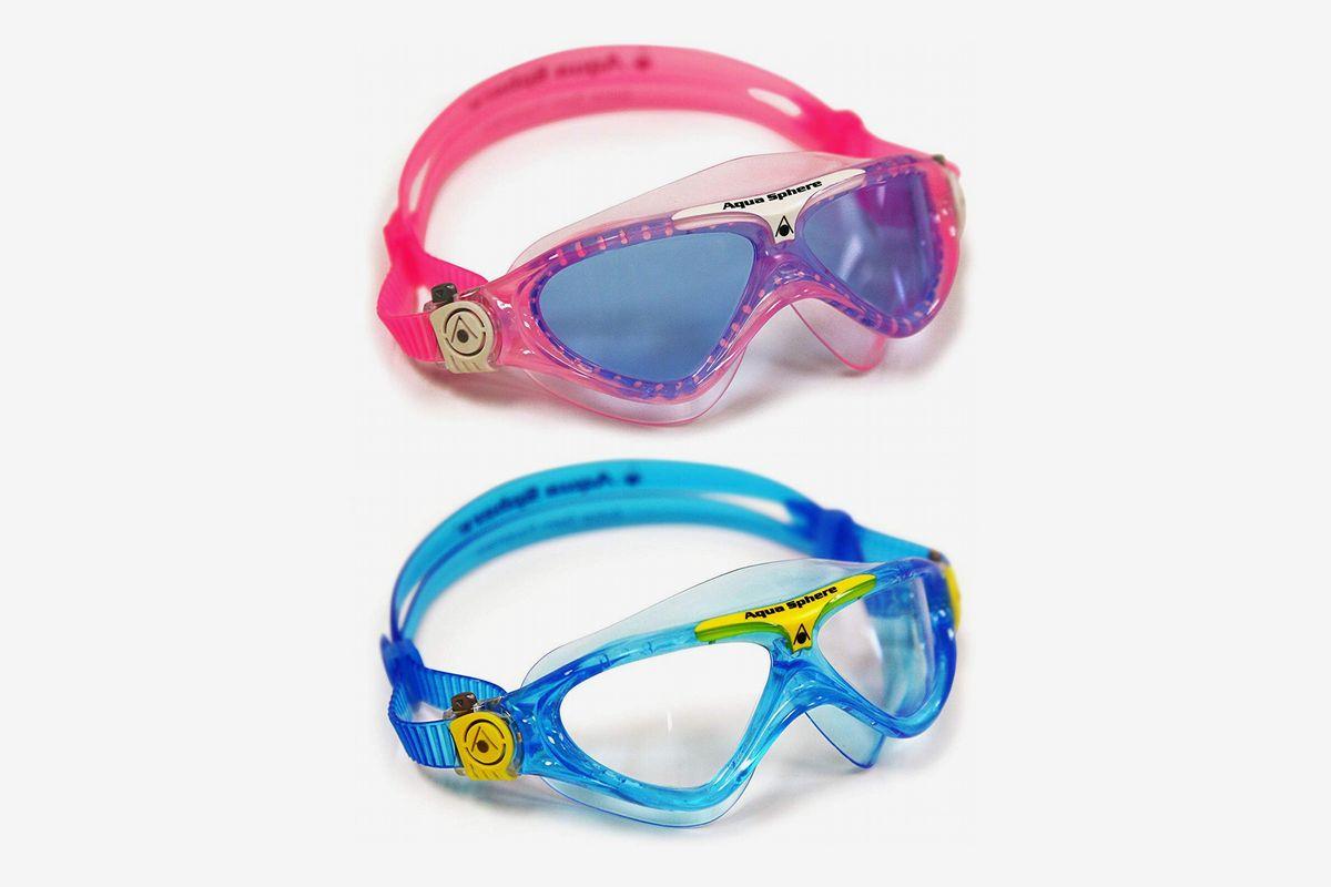 Aqua Sphere Youth Swimming Goggles Masks Childrens Kids Swim Goggle Violet Clear