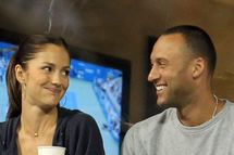NEW YORK - SEPTEMBER 04: Actress Minka Kelly and Derek Jeter of the New York Yanklees watch as Novak Djokovic of Serbia plays against James Blake of the United States during his men's singles match on day six of the 2010 U.S. Open at the USTA Billie Jean King National Tennis Center on September 4, 2010 in the Flushing neighborhood of the Queens borough of New York City. (Photo by Chris McGrath/Getty Images) *** Local Caption *** Minka Kelly;Derek Jeter