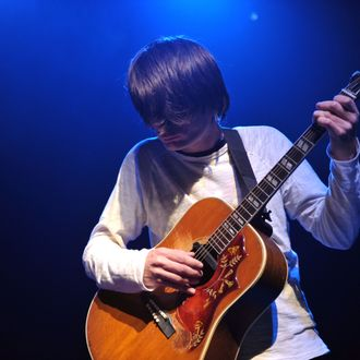 HOLLYWOOD - JANUARY 24: Jonny Greenwood of Radiohead performs at a benefit concert on behalf of the Oxfam Haiti Relief Fund on January 24, 2010 in Hollywood, California. (Photo by John Shearer/Getty Images) *** Local Caption *** Jonny Greenwood