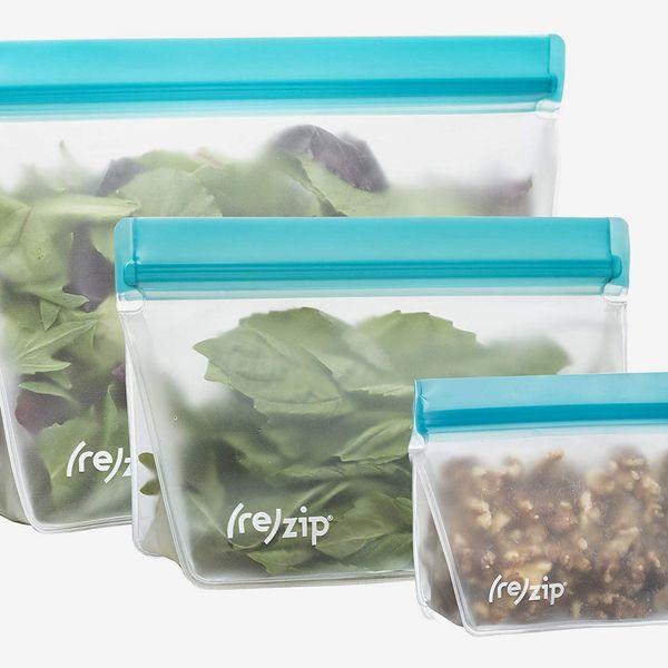 Rezip 3-Piece Stand-Up Leakproof Reusable Storage Bag