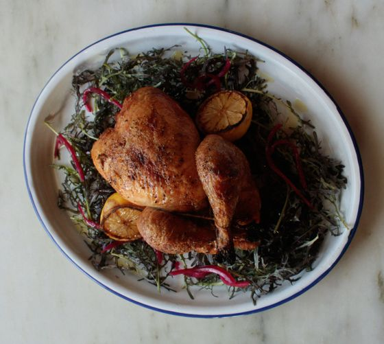 Gallina Entera: brined and spit roasted chicken.