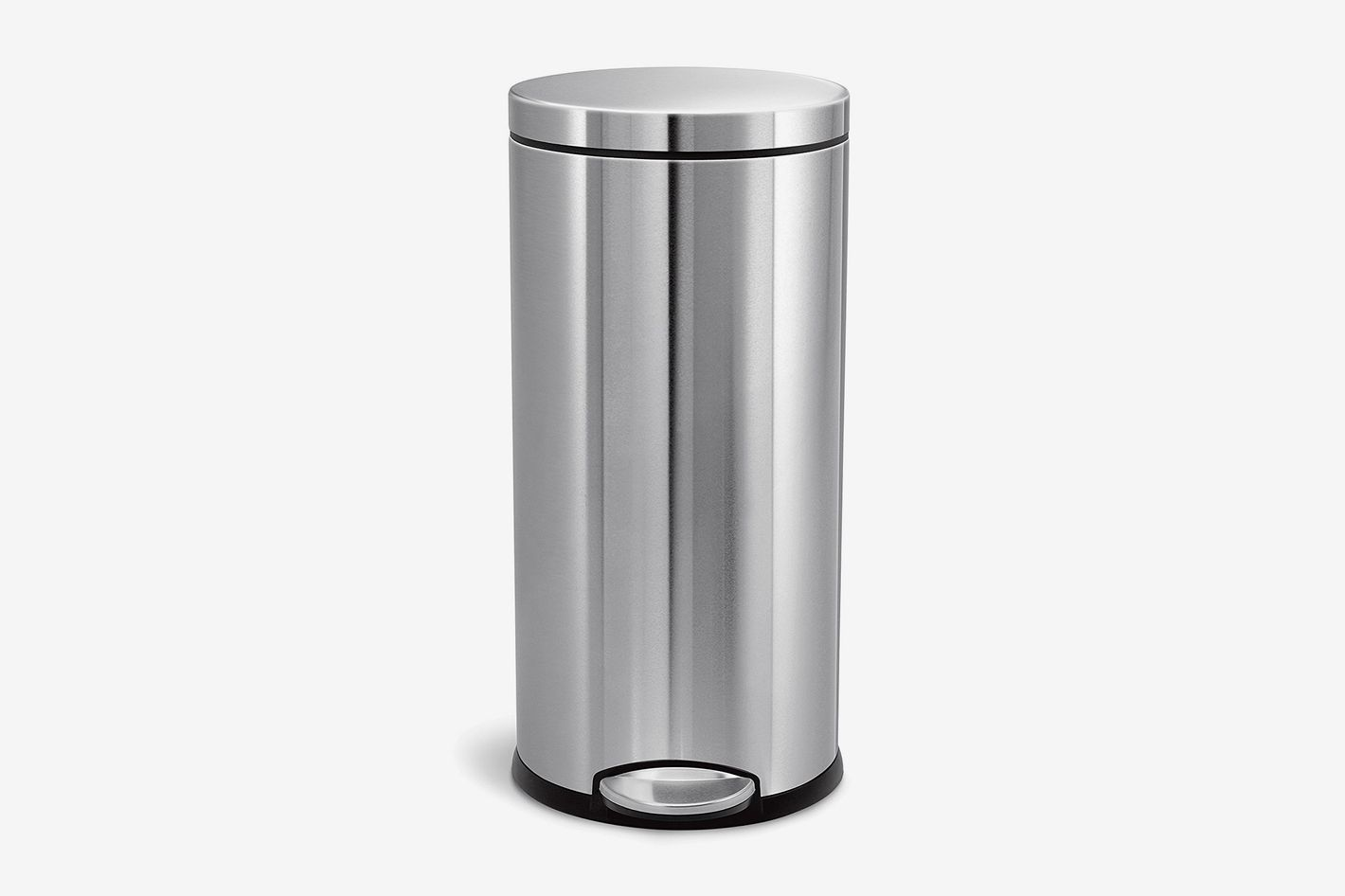 Simplehuman 30 Liter 8 Gallon Stainless Steel Round Kitchen Step Trash Can At