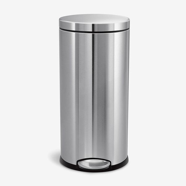 Simplehuman 30-Liter/8-Gallon Stainless-Steel Round Kitchen Step Trash Can