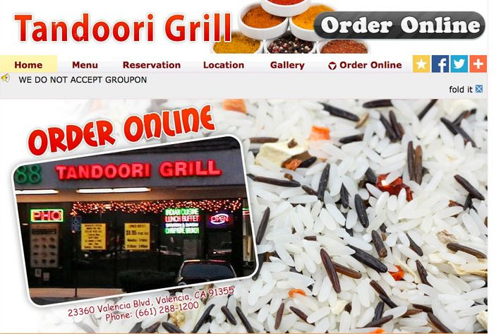 The restaurant's website.
