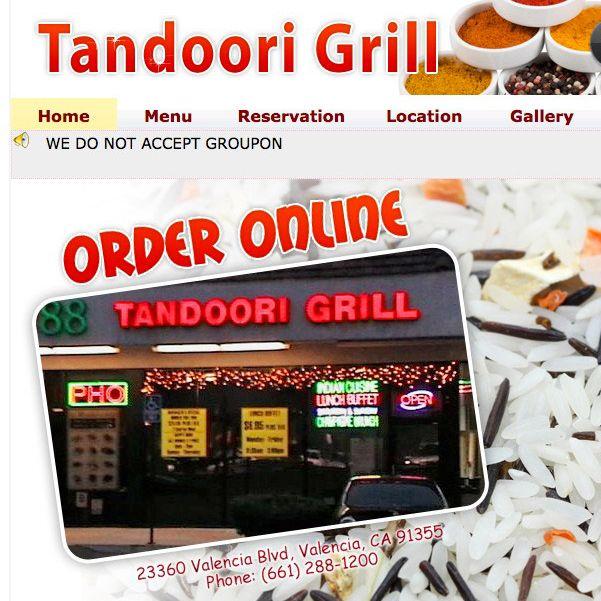 The restaurant's website.