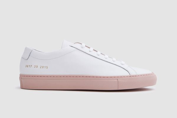 Woman by Common Projects Achilles Low With Colored Sole in White/Blush