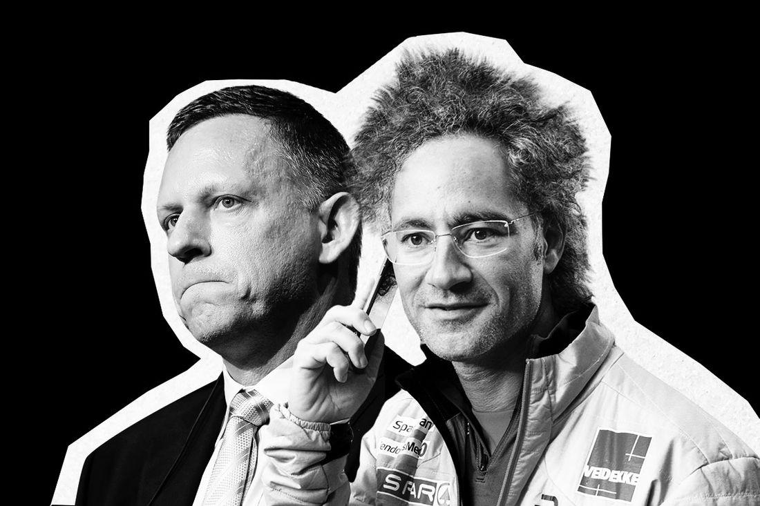 Palantir co-founders Peter Thiel and Alex Karp.