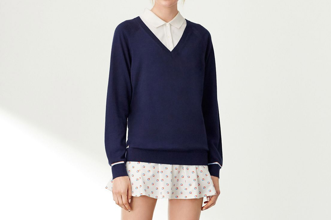 Performance Cashmere V-Neck Sweater