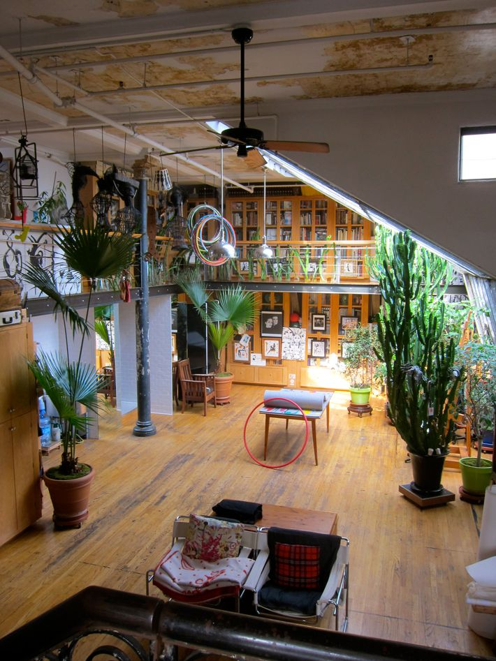 The Toledos live and work in this magical loft within a temple atop an 1895-era building.