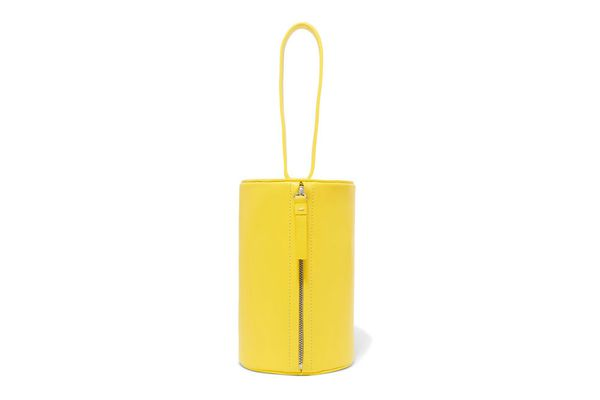BUILDING BLOCK Cylinder leather clutch