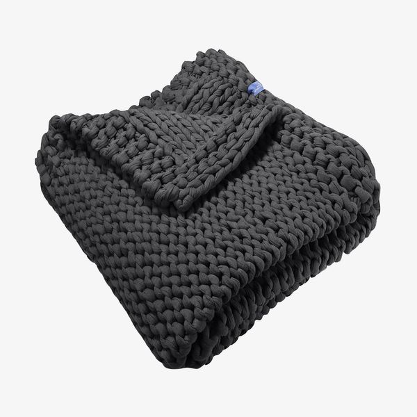 15-Pound Handmade Chunky-Knit Weighted Blanket