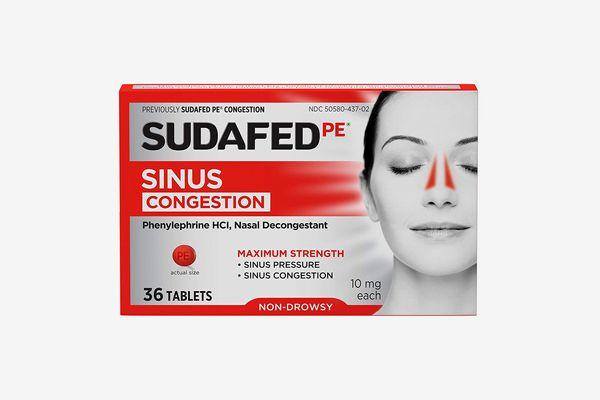 Sudafed PE Sinus Congestion Maximum Strength Non-Drowsy Decongestant Tablets
