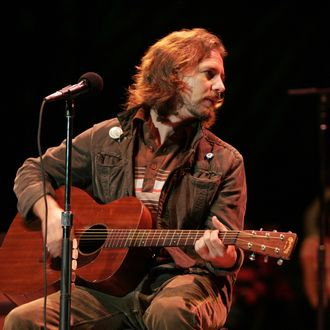 Eddie Vedder of Pearl Jam during 20th Annual Bridge School Benefit Concert - Day One at Shoreline Amphitheatre in Mountain View, California, United States.
