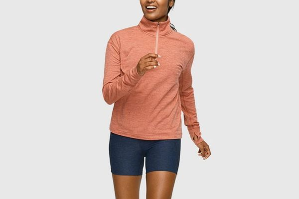 Outdoor Voices OVFleece Half-Zip, Clay