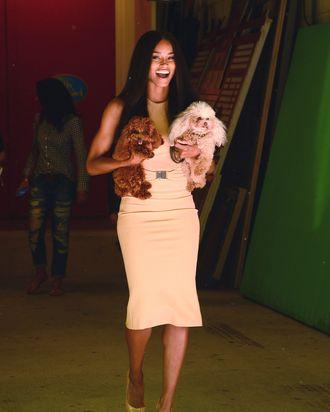 Ciara + pets.