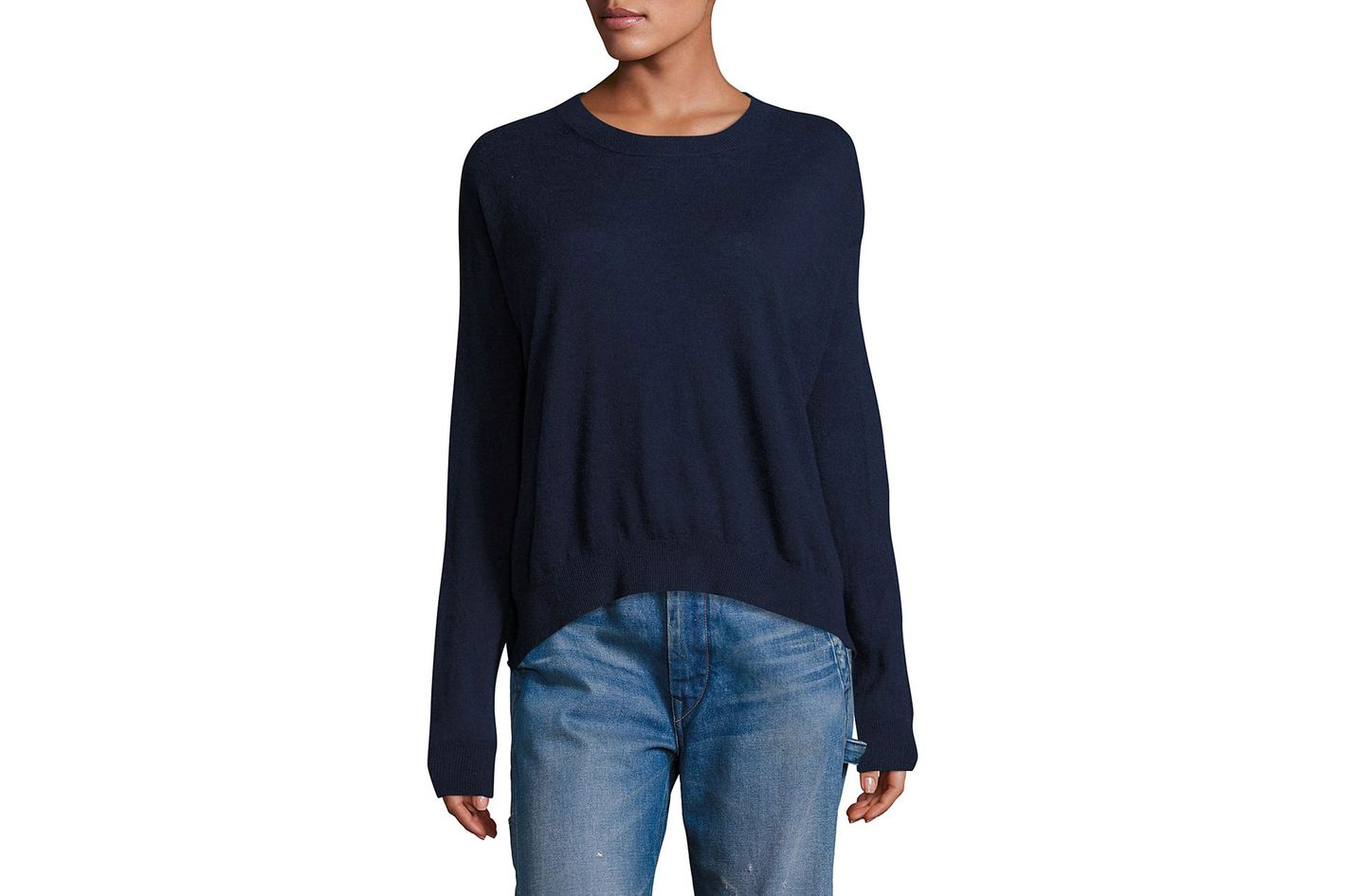 Long Sleeves Cashmere & Linen Pullover