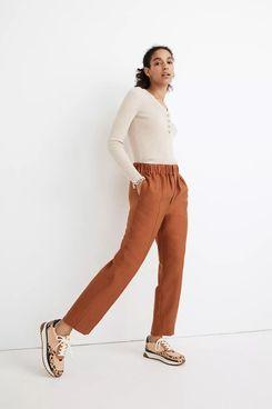 Madewell Tapered Huston Pull-On Crop Pants