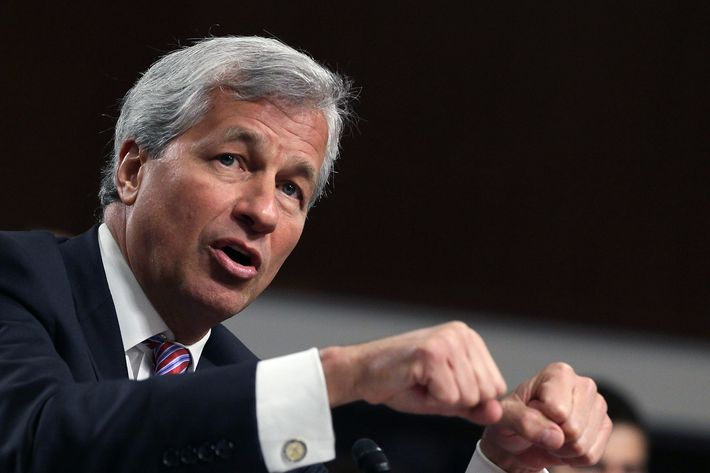 President and CEO of JPMorgan Chase Co. Jamie Dimon testifies before a Senate Banking Committee hearing on Capitol Hill June 13, 2012 in Washington, DC. The committee is hearing testimony from Mr. Dimon on how JP Morgan Chase lost over two billion dollars in stock market trades.