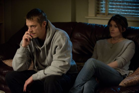 Stephen Holder (Joel Kinnaman) and ADA Caroline Swift (Jewel Staite)The Killing _ Season 3, Episode 5 - Photo Credit: Carole Segal/AMC
