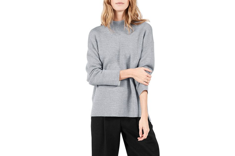 Everlane Luxe Double-Knit Mock Neck