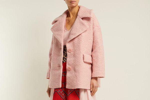 Ganni Fenn Wool-Blend Bouclé Jacket