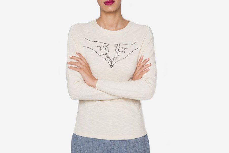 Virginia Embroidered Anatomy Tee