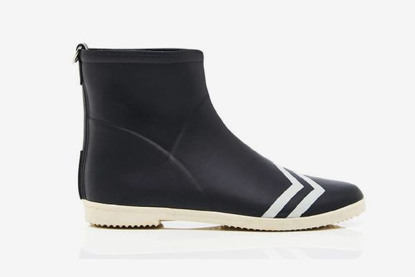 Alice + Whittles Black Sport Stripes Ankle Boot