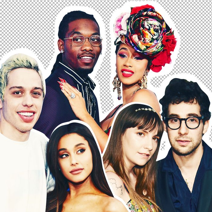 Pete Davidson and Ariana Grande; Offset and Cardi B; and Lena Dunham and Jack Antonoff.