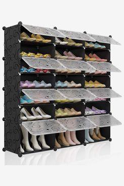 NEW SHOE RACK Stand Storage Organiser Lightweight Compact SPACE SAVE Shelf Grey