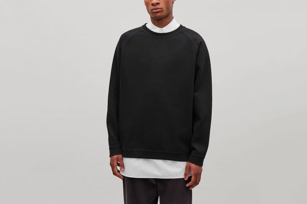COS Cotton Twill Sweatshirt