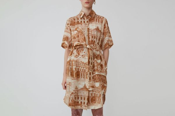 Acne Studios Printed Shirt Dress