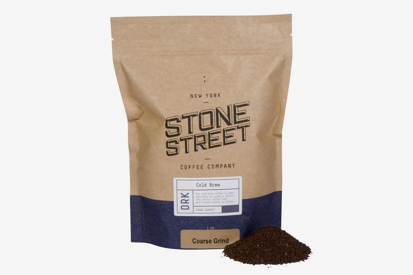 Stone Street Coffee Cold Brew Reserve Colombian Single Origin Coarsely Ground Coffee, 1 Pound