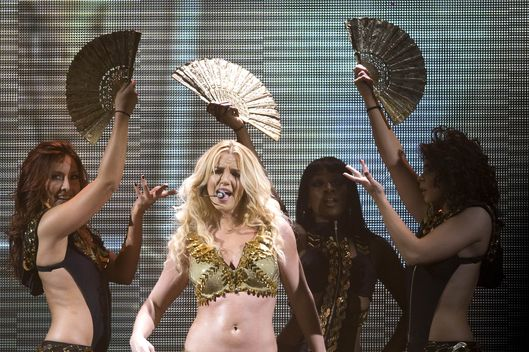 American singer Britney Spears performs live on stage at Ahoy in Rotterdam, Netherlands during her Femme Fatale Tour on 19th October 2011.