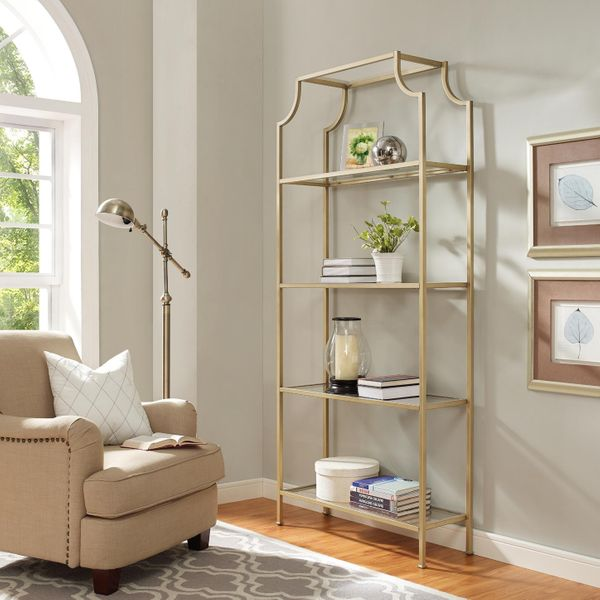 Gold Milayan Tall Shelf