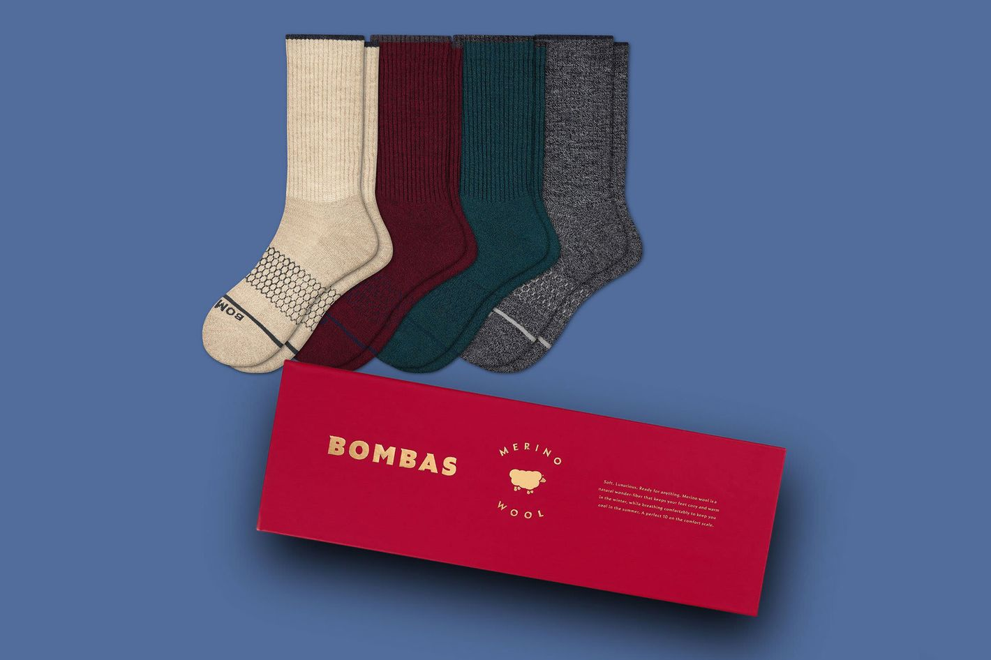 Bombas Mens Merino Wool Gift Box