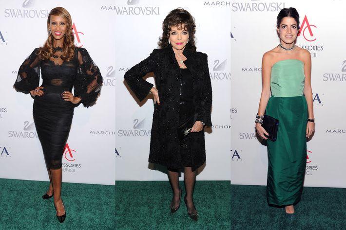 Iman, Joan Collins, and Leandra Medine.