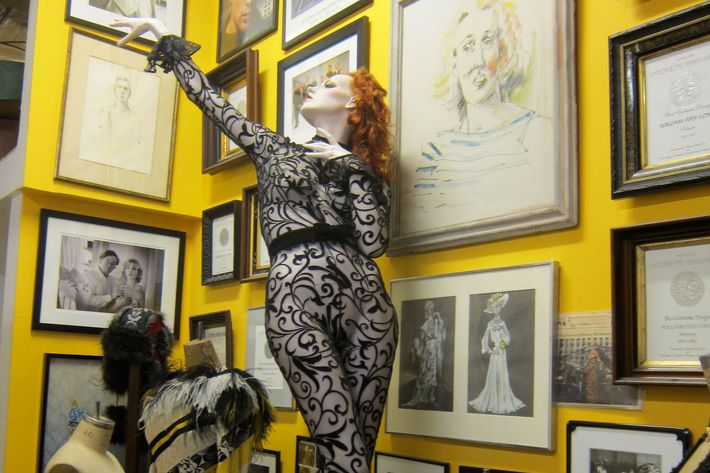 Broadway costumes in designer William Ivey Long's studio.