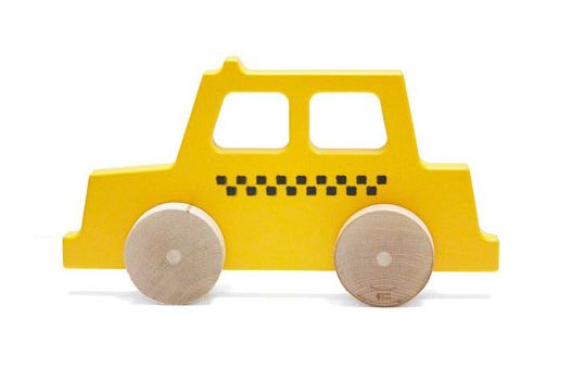 Manny and Simon Taxi Wooden Push Toy
