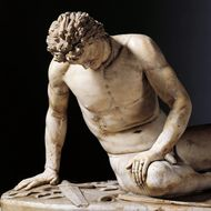 The Dying Gaul (Il Galata morente), Roman copy after a sculpture situated in the Pergamon Acropolis
