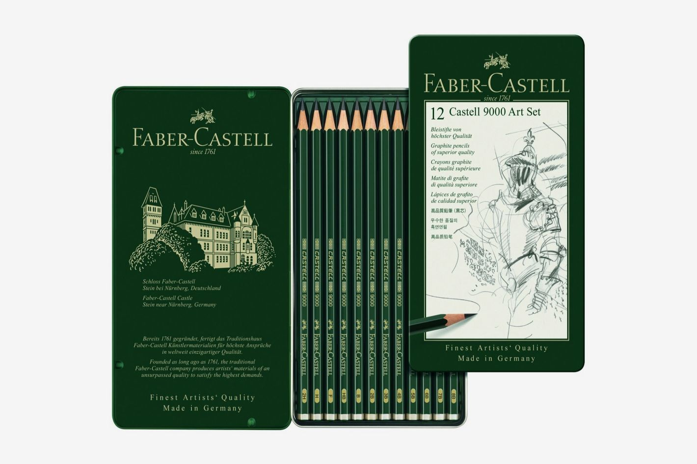 Faber castell 9000 graphite sketch pencil set set of 12
