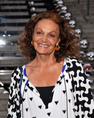 NEW YORK, NY - APRIL 27: Designer Diane von Furstenberg attends the Vanity Fair Party at the 2011 Tribeca Film Festival at the State Supreme Courthouse on April 27, 2011 in New York City. (Photo by Stephen Lovekin/Getty Images)