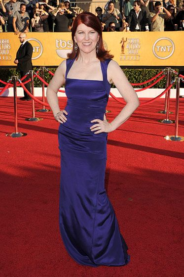 LOS ANGELES, CA - JANUARY 29:  Actress Kate Flannery arrives at the 18th Annual Screen Actors Guild Awards at The Shrine Auditorium on January 29, 2012 in Los Angeles, California.  (Photo by Jason Merritt/Getty Images)