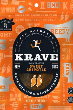 KRAVE Jerky Gourmet Beef Cuts, Sweet Chipotle (Pack of 8)