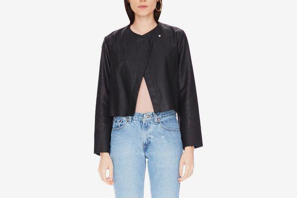 Adryan Leather Jacket Black